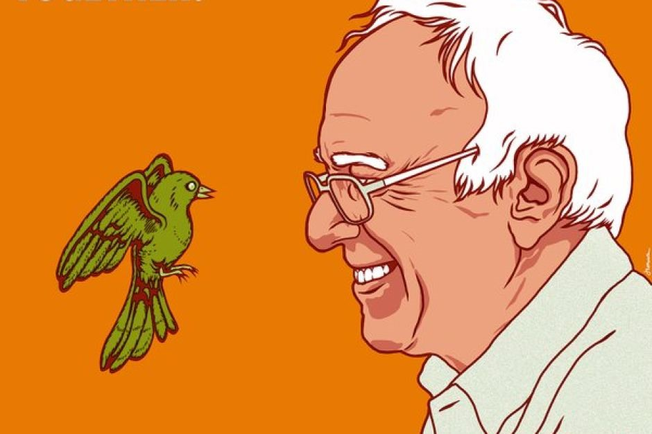 Bernie Sanders cartoon