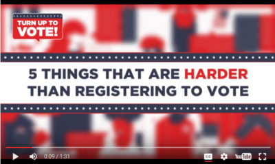 President Obama Encourages Voter Registration in Fun Video