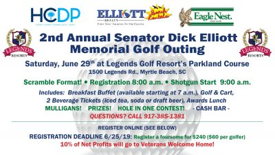 2nd Annual Sen. Dick Elliott Memorial Golf Outing 2019