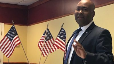 Jaime Harrison Speaks To Beach Dems