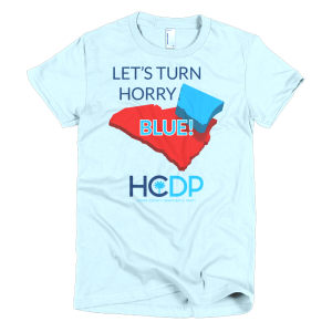 """Let's Turn Horry Blue!"" Short Sleeve Women's T-Shirt"
