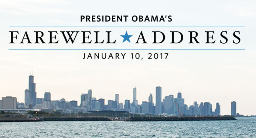 President Obama to Deliver Farewell Address on Jan. 10 in Chicago