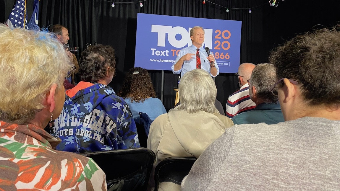 Steyer Takes His Case to Horry County