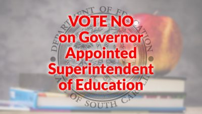 Vote NO on APPOINTED Secretary of Education