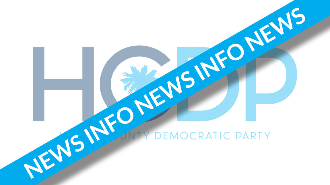 Horry Democrats to Elect Officers and Delegates on Saturday, March 19